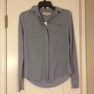 LOFT light blue long sleeve button up